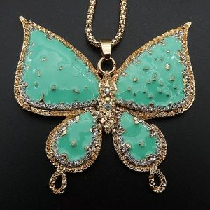 Teal Betsey Johnson Butterfly 🦋 Necklace